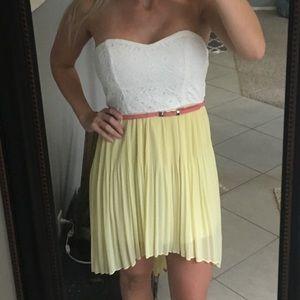 A. Byer strapless sweetheart dress
